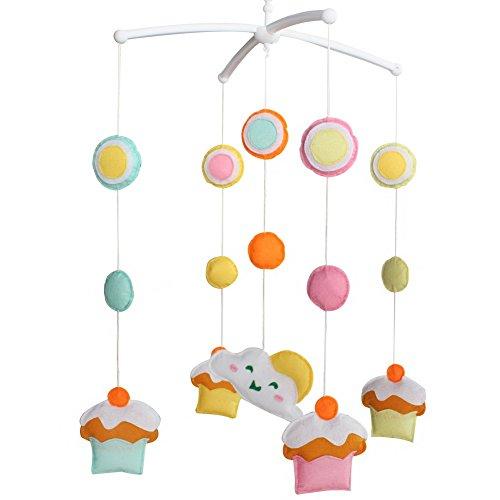 Berceau de lit de bébé rotatif coloré jouets de bébé [Gâteau sucré]