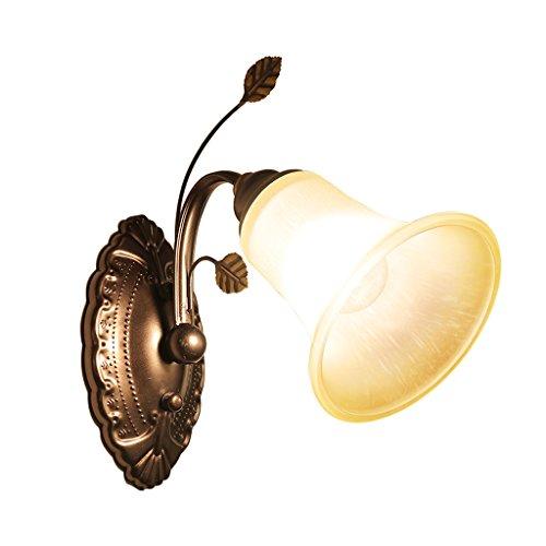 MXD Creatieve retro trompet vorm glas lampenkap wandlamp smeedijzer mode eenvoudige woonkamer slaapkamer wandlamp bedlampje gang lampen