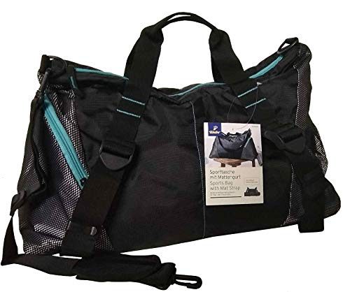 TCM Tchibo Sporttasche mit Mattengurt Sport Tasche schwarz