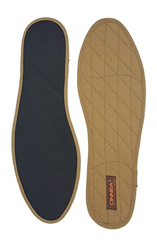 Cinnea Zimt-Einlegesohlen 1 Paar braun Größe 46, Zimt-Sohlen, Zimt-Einlagen, Zimtsohlen für Geruchs KOMFORT im Schuh (46)