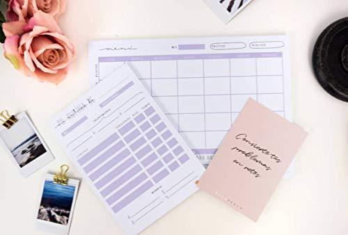 Menú semanal saludable - Planificador/Organizador de comidas en papel (Menú semanal)