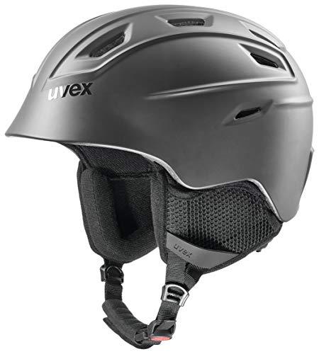 uvex Unisex– Erwachsene, fierce Skihelm, black mat, 51-55 cm