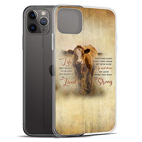 Compatible for iPhone 11 Case Motivational Quotes Make You Strong Farm Life Cows Farmers Anti-Scratch Covers