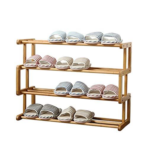 Range-chaussures Étagère à Chaussures en Bambou étagère à Chaussures Multi-Couche Home Armoire à Chaussures Multicouche étagère de Stockage à la Maison (Color : Brown, Size : 68x25x48cm)