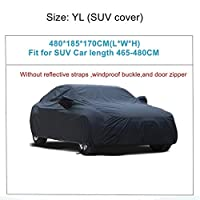 YUNDONG ユニバーサル・フル・カーカバー屋内屋外のオートカーは、雪氷防水防塵日UVシェードカバーカーリフレクターをカバー (Color Name : YL 480x185x170cm)