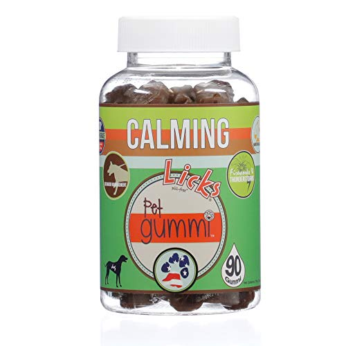 Licks - Calming Treats for Dogs - Dog Anxiety Relief - Dog Calming Aid - Gummies - 90 Use