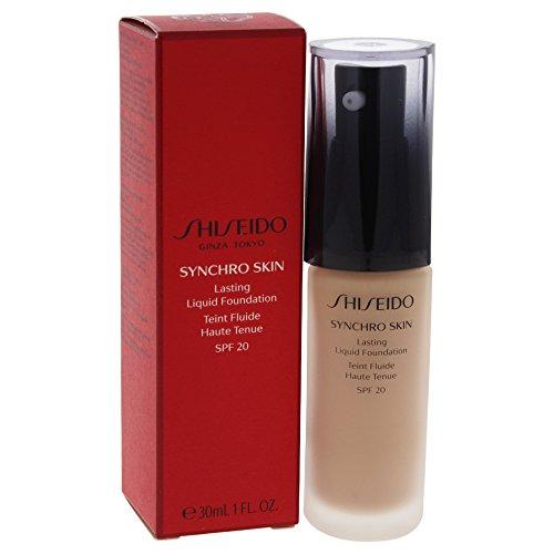Shiseido Flüssige Foundation Synchro Skin Lasting R3 B40 SPF 20, 1er Pack (1 x 30 ml)