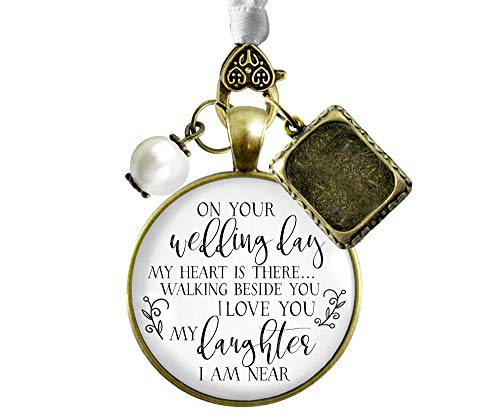 Bouquet Charm On Your Wedding Day Of Mom Dad White Bridal Memorial Photo Frame