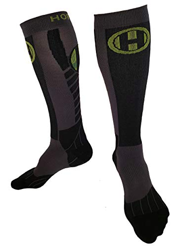 Premium Protective Endurance Compression Socks for Lifting, Running, and OCR (L) by Hoplite