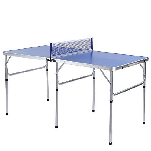 EBTOOLS Indoor/Outdoor Tragbares Tischtennisspiel Set Mini-Tischtennisplatte mit Netz, 2 Paddeln und 3 Bällen, einfache Installation, 152 * 76,2 * 76,3 cm