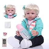 ZIYIUI Reborn Muñecas 24 Pulgadas Reborn Muñecas bebé Realista Suave Silicona Simulación Vinilo Recién Nacido Hecho a Mano Bebe Muñecos Regalo