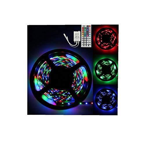 ODJOY-FAN 5M RGB 3528 300 LED SMD Flexibel Licht Streifen Lampe + 44 Schlüssel IR Fernbedienung Regler 5M RGB Unterlassen Sie Wasserdicht Light Strip Beleuchtung (Bunt,1 PC)