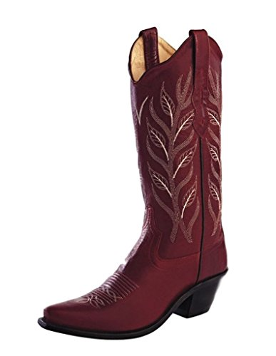 Old West Women's Fashion Western Cowboy Boot Snip Toe Red 5.5 M US