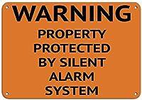無声警報システムアルミニウム金属の印によって保護される警告の特性