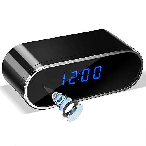 Cámara de reloj HD 1080p, reloj despertador LED multifunción, reloj de cámara,...