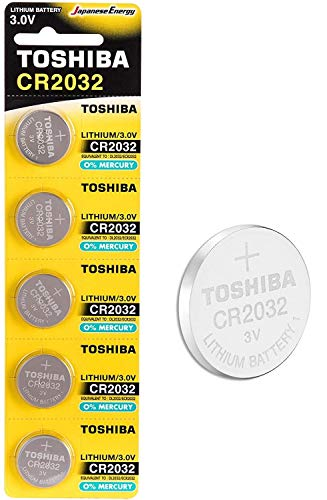 Toshiba CR2032 3V Lithium Coin Cell Battery Pack of 5