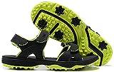 NOXNEX Men's Spikeless Golf Sandals Adjustable Velcro Straps Comfort Shoes Golfers Golf Sport Sandal(Blackgreen,10)