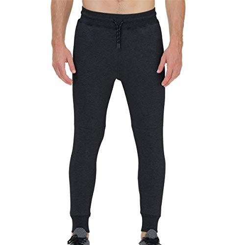 snowhite Men's Pants Elastic Waistband Casual, Cargo Pants Joggers Sweatpants Trousers for Mens Long Pants with Pockets Black