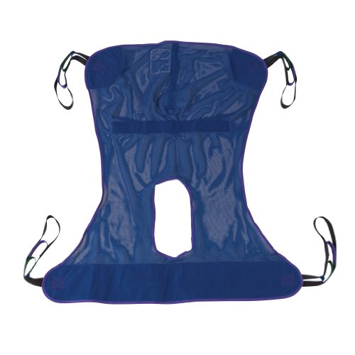 Drive Medical Full Body Patient Lift Sling, Mesh with Commode Cutout,...