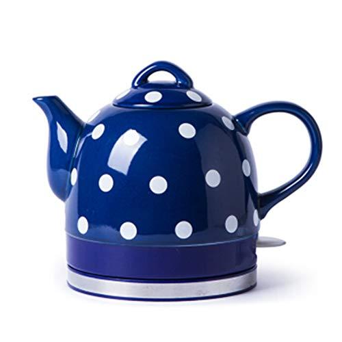 GUYUN Hausgeräte Elektrischer Wasserkocher Drahtlose Keramik,1000 W Ceramic 1 Liters, Keramik Wasserkocherteekanne,Blue