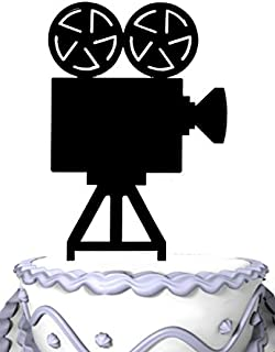 Meijiafei Movie Camera Cake Topper Acrylic Cake Topper Decoration