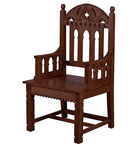 Christian Brands Church Gothic Celebrant Chair - Walnut Stain