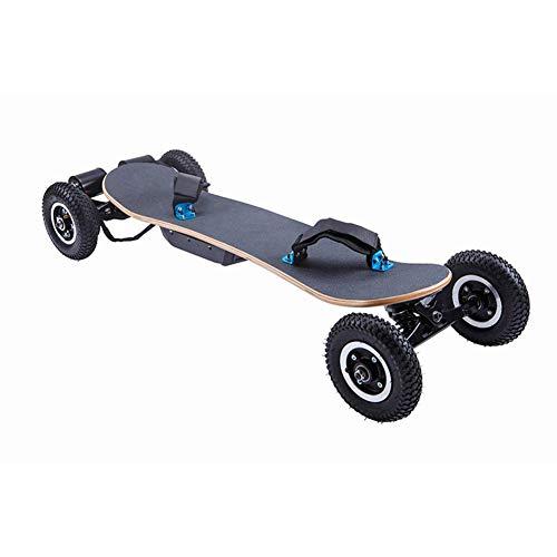 KaiKai 42 Zoll Cross Country Skateboard Gelände Skateboard Longboard mit Fernbedienung for Cruising und Downhill Breite und Stable Skateboard Deck