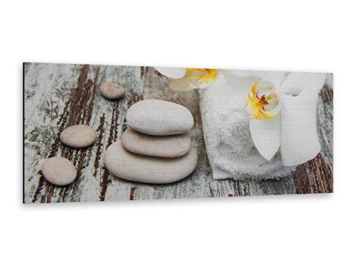 Alu-Dibond afbeelding sauna Spa 125 x 50 cm Butlerfinish® edel geborstelde muurfoto, metaaleffect eyecatcher! ALP12502166.