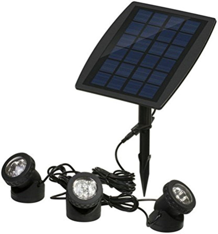 OSALADI Solarbetriebene LED-Leuchten im Freien Rasenflchenleuchten Bewegungssensor 3 Kpfe Scheinwerfer (MultiFarbe)