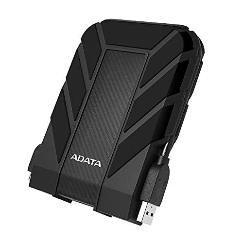 ADATA HD710 Pro - 5 TB, externe Festplatte mit USB 3.2 Gen.1, IP68-Schutzklasse, schwarz, langlebig, wasserdicht und staubdicht mit militärischer Zähigkeit in mehrschichtigen Festplatten
