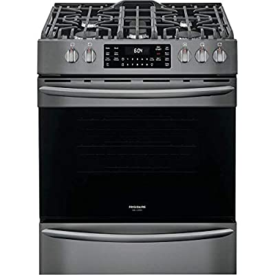 "Frigidaire FGGH3047VD 30"" Gas Front Control Freestanding Range Airfry Convection ADA - Smudge Proof Black Stainless"