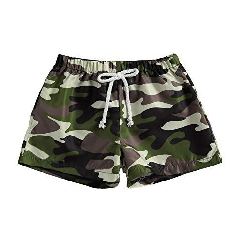 Toddler Baby Boys Swim Trunks Shorts Pineapple Leaf Print Beachwear Sports Running Swim Board Shorts for 6M-4T (Camouflage, 6-12 Months)