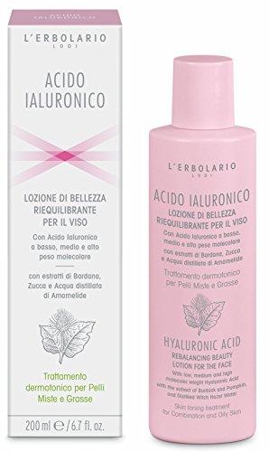 acide hyaluronique lotion équilibrante visage pour peaux technique mixte et grasses 200 ml,