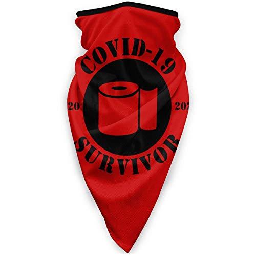 Covid-19 Survivor Coronavirus Face Co_V-Er paradenti unisex senza cuciture riutilizzabile scaldacollo antipolvere bandane copricapo