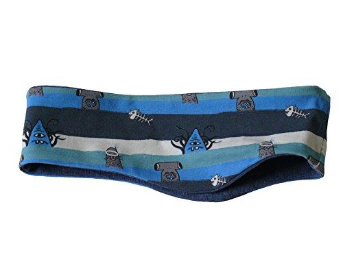 Fitzibiz Stirnband Baumwoll-Jersey, Sterne, Streifen, Motive, Uni (86, Blau (Mario))