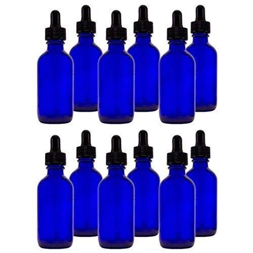 Frasco cuentagotas azul de 30ml (pack 50unidades) ideal para preparados de flores de Bach, y preparados de aceites