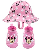 Disney Minnie Mouse Pink Sunny Fun Swim Hat and Booties Set - 0-12 Months
