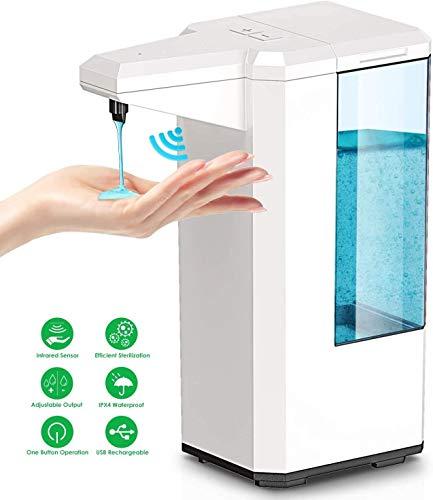 GoKlug Automatisch Desinfektionsspender Sensor Automatischer Seifenspender Sensor Desinfektionsmittelspender Händedesinfektion Spender Desinfektionsmittel Hand No Touch Seifenspender 500ML Weiß