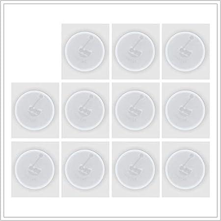 50 NFC Tag autocollants 180 octets id/éal pour les appareils//profil Commande blanc NTAG 213 Wi-Fi, Bluetooth, NFC Apps compatible avec tous les smartphones//tablettes 22mm