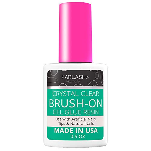 Karlash Super Strong Nail Glue for Acrylic Nails and Press on Nails Nail Bond Acrylic Nail Glue Adhesive, Perfect for False Acrylic Nail Art, Glitter, Gems, White Clear Tip Applications (Pack of 1)