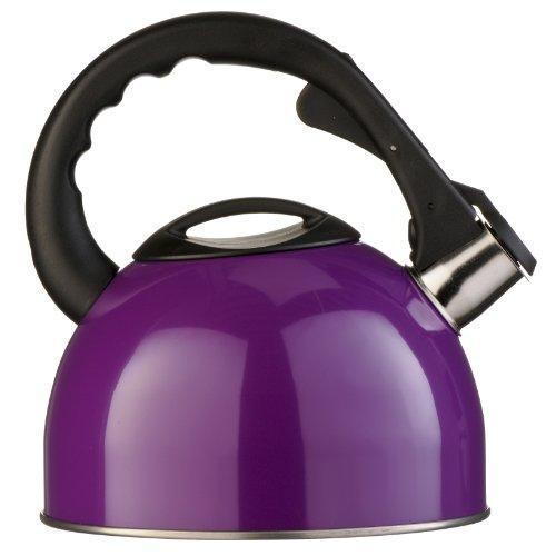 Premier Housewares Pfeifkeasel, Edelstahl, 2,5l, mit Induktionsboden, 22 x 23 x 20 cm, violett, purpurn, 20x20x23