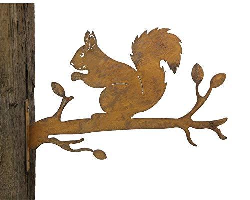 Gartenstecker Baumstecker Metall Rost rostige Gartendeko Edelrost Eichhörnchen rostige Deko