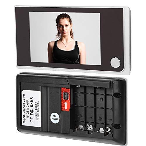 Visor de Mirilla de 120 Grados LCD Digital de 3,5'Monitoreo Visual de Fotos con cámara...