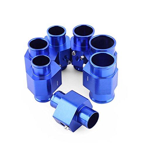 Qiilu Universal Metall Auto Wassertemperatur Joint Rohr Schlauch Temperatursensor Adapter Blau(28MM)