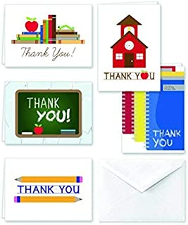 Paper Frenzy School Thank You Note Cards & White Envelopes - 25 pack