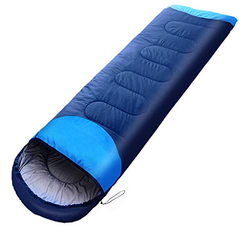 Sac de Couchage en Plein air, Sac de Couchage, Voyage Adulte, Chaleur intérieure, Coton Sale vers Le Bas, Coton 220 cm, 1,5 kg (Color : Blue)