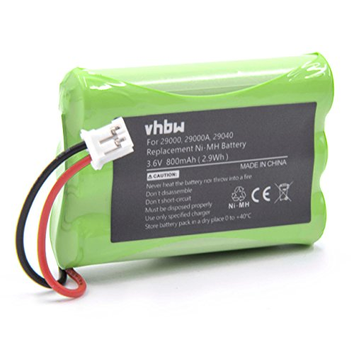 vhbw NiMH Batteria 800mAh (3.6V) per Baby Phone, Baby Monitor come Summer Infant 29030
