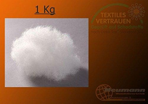 Ovatta da imbottitura, in silicone, per bricolage, cotone per peluche 1 kg bianco