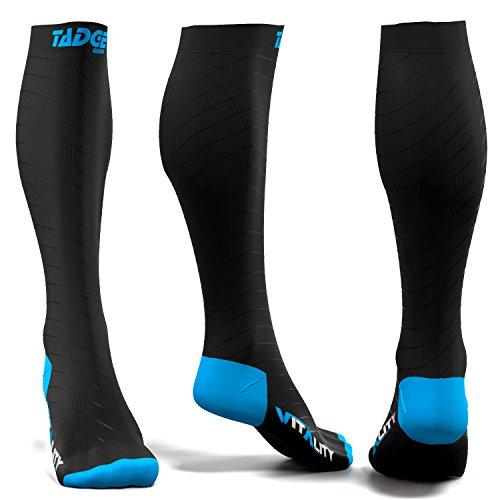 Tadge Compression Socks For Men & Women 20-30mmHg Knee High Support Stocking
