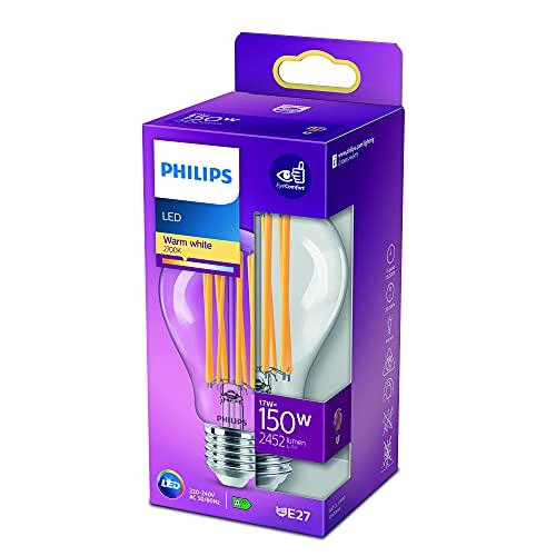 Philips LEDclassic Lampe ersetzt 150W, E27, A60, warmweiß (2700 Kelvin), 2452 Lumen, klar